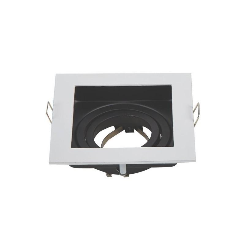 OPTONICA Spotlight Fixture Aluminium White/Black Max 35W 2014